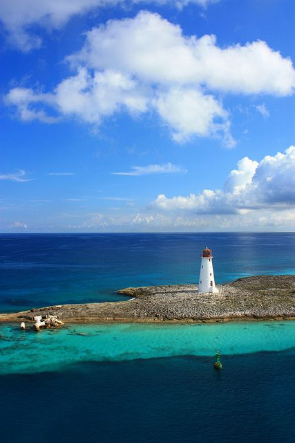 The view as you cruise into Nassau....I have been there and have taken a picture of that exact lighthouse! Beautiful! Ready to go back!