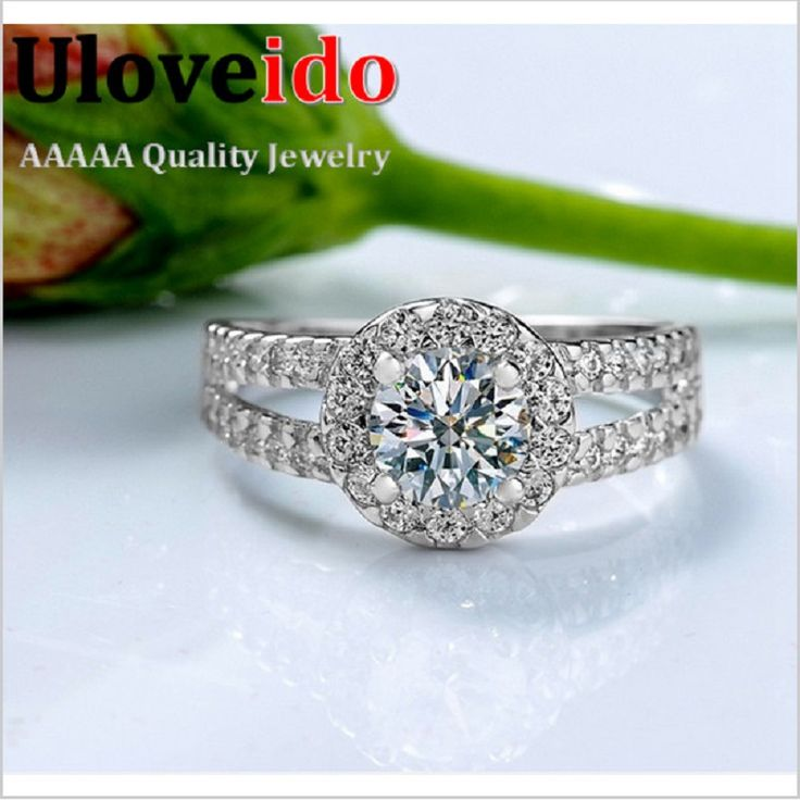 Find More Rings Information about Fashion Zirconia Stone Silver Rings for Women…