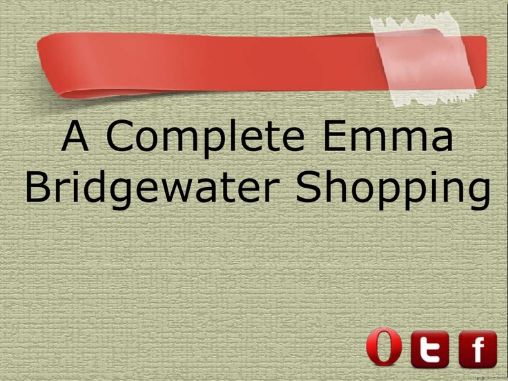 A Complete Emma #Bridgewater #Shopping