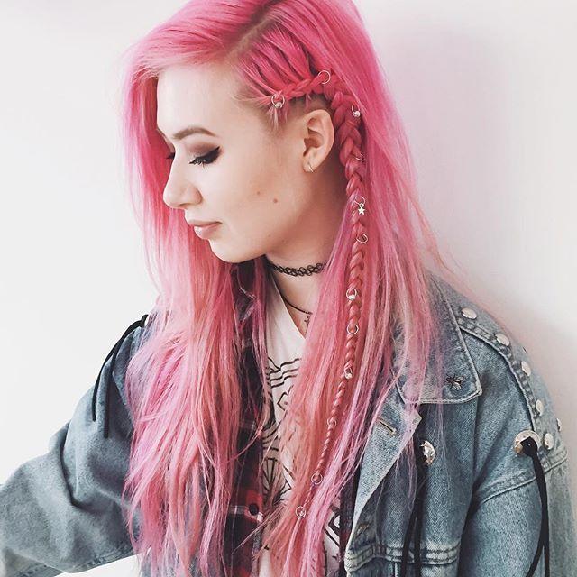 Amy Valentine @amyvalentinex Punk plait by @ke...Instagram photo | Websta (Webstagram)