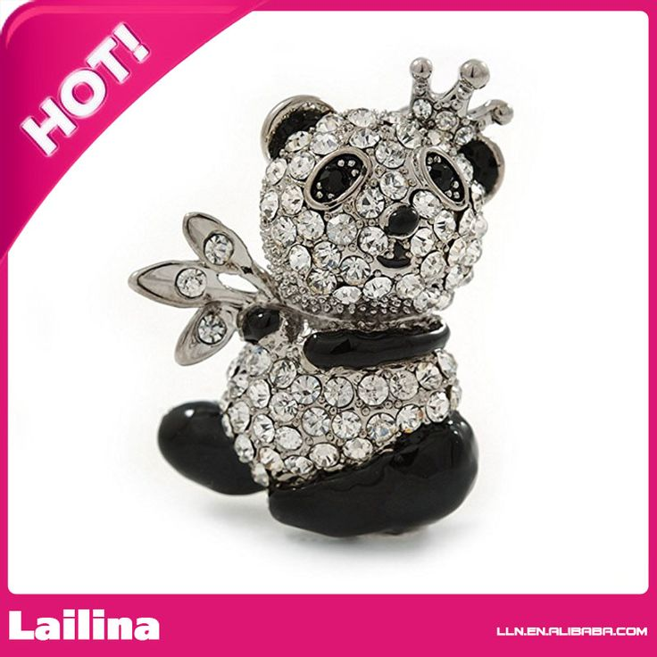 Find More Brooches Information about Crystal, Black Enamel Quinn Panda Bear Brooch pin   40mm,High Quality brooch pins,China bear brooch Suppliers, Cheap pin pin from Lailina Jewelry Co., Ltd on Aliexpress.com