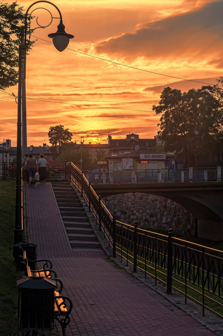 sunset over my town -Tarnow - Poland