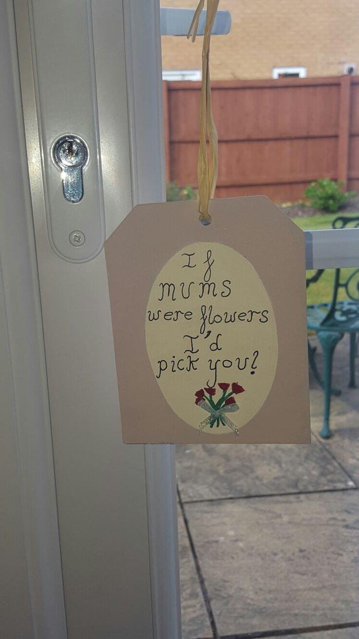 Hanging decoration for my mum.