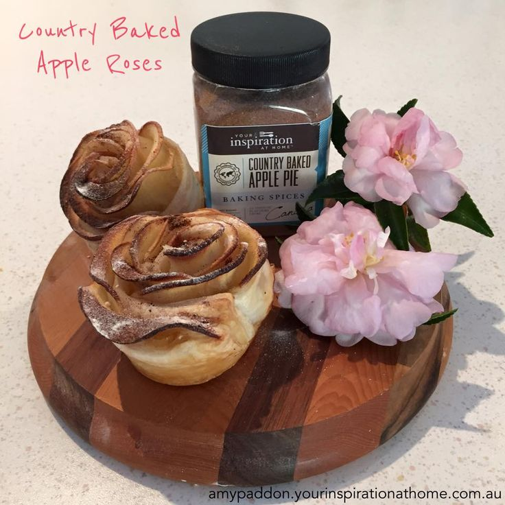 Country Baked Apple Roses using {Mothers' Day / Valentine's Day} Your Inspiration at Home YIAH Country Baked Apple Pie Spice