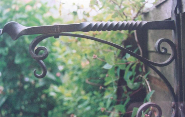 Blacksmith Made Hanging Basket Bracket | by Adrian The Smith at Trinity Forge
