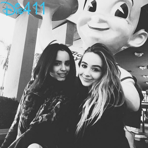 "Photos: Sabrina Carpenter With Her ""Further Adventures In Babysitting"" Co-Star Sofia Carson January 31, 2015 - Dis411"