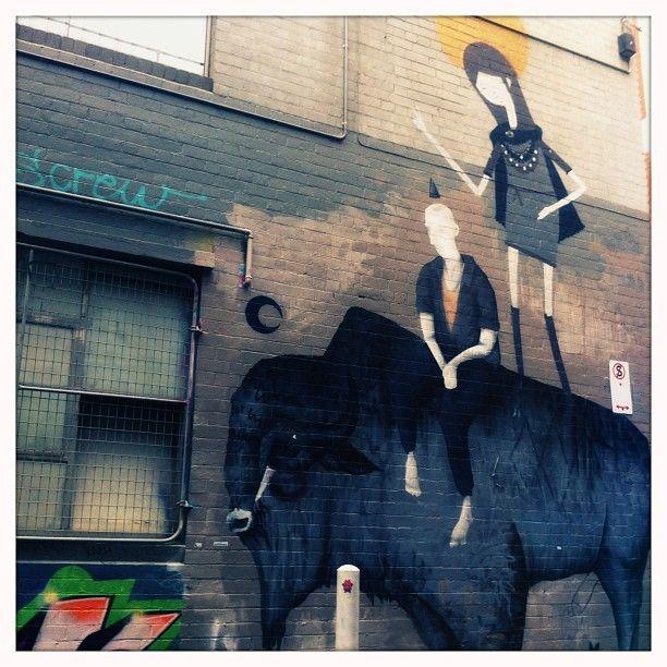 Ghostpatrol and Two One street art melbourne graffiti