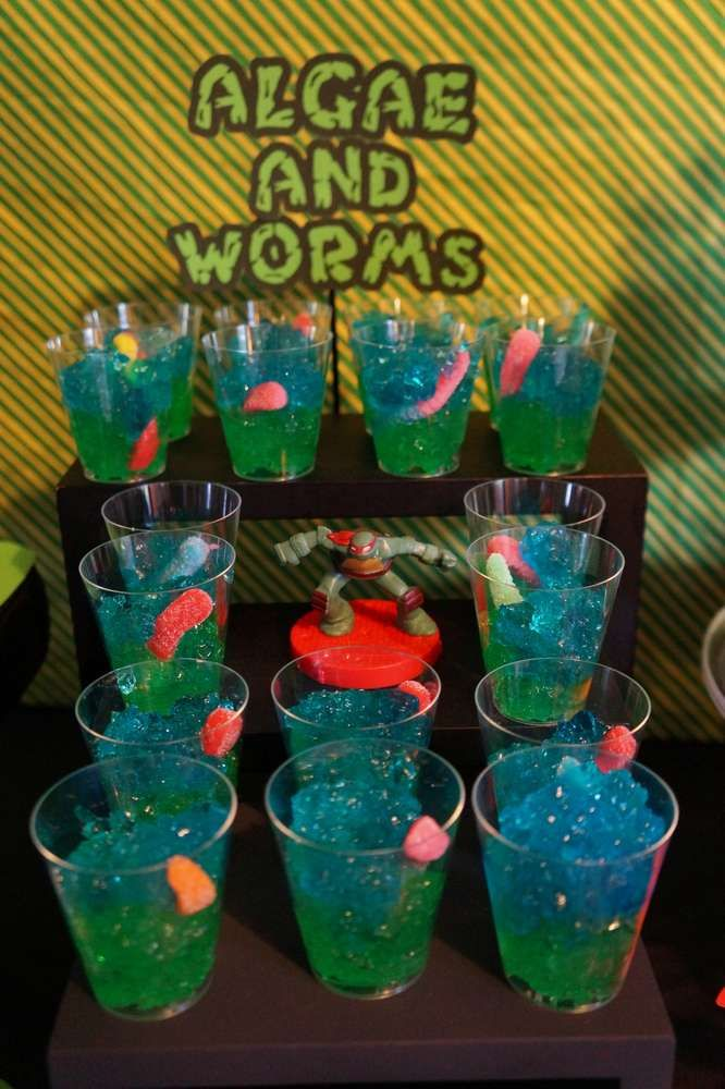 Teenage Mutant Ninja Turtles birthday party food! See more party planning ideas at CatchMyParty.com!