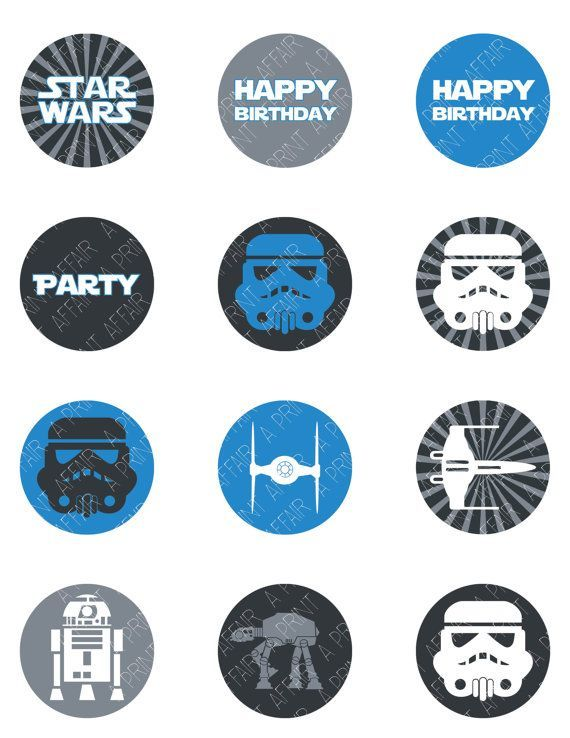 star wars birthday cupcake toppers - Buscar con Google