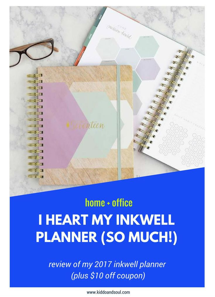 I have been dying to get this blog off the ground so I could post my inkWELL liveWELL Planner Review (and special discount for Kiddo&Soul readers!) planner love, life planner, planning and organization