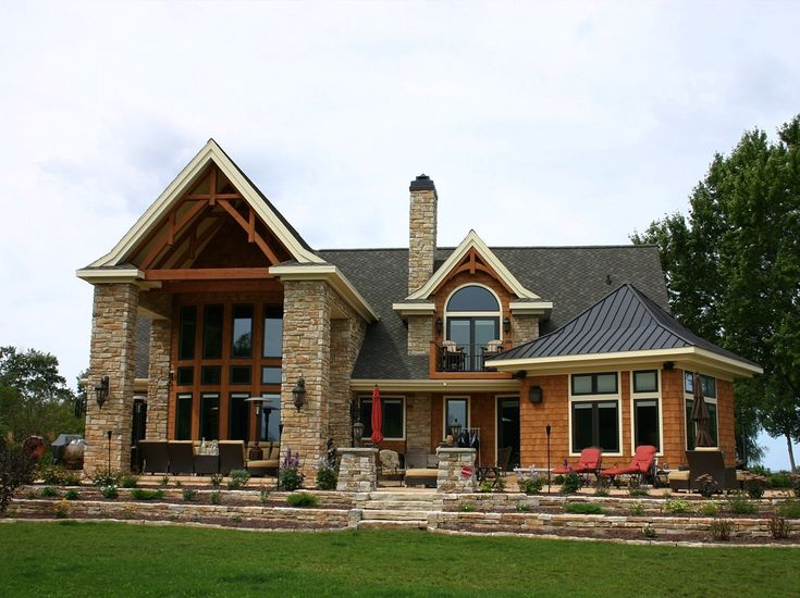 Rustic Ridge Limestone Home Exterior. Love this style.