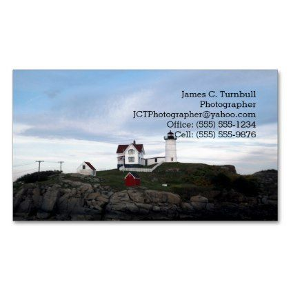 #Columbus Day Weekend Up In York Maine Magnetic Business Card - #travel #trip #journey #tour #voyage #vacationtrip #vaction #traveling #travelling #gifts #giftideas #idea