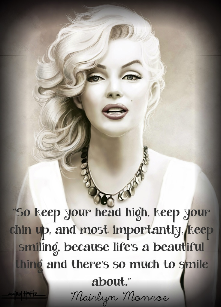 i made this quote by mairlyn monroe