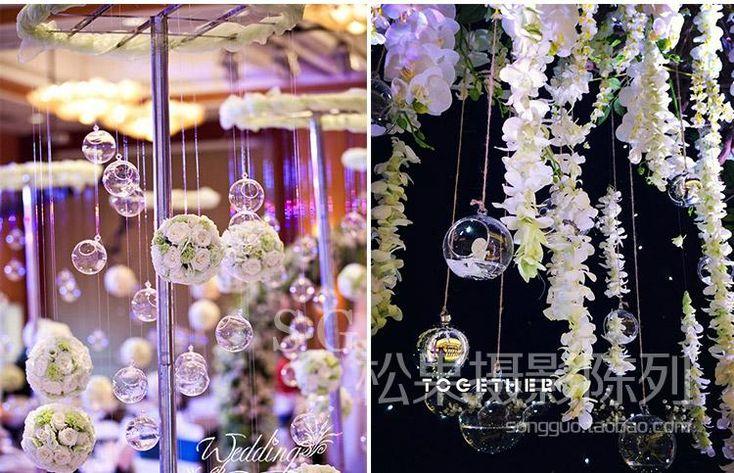 Оптовая цена на одно отверстие, полые пластиковые шариковые прозрачные акриловые окна рождественских Лоб свадебной фотографии реквизита - глобальная станция Taobao