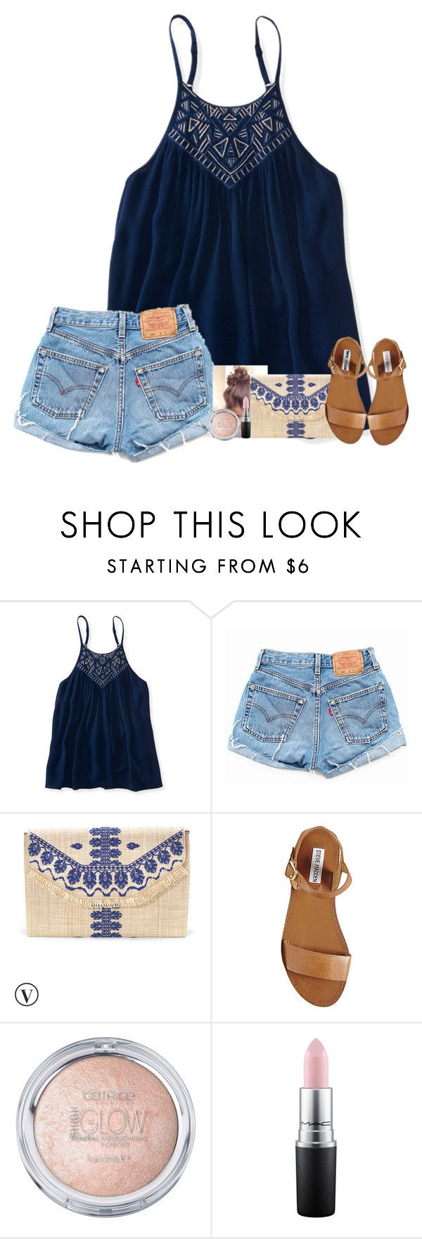 """Home from camp. Didn't want to leave "" by fashionpassion2002 ❤ liked on Polyvore featuring Aéropostale, Levi's, Stella & Dot, Steve Madden and MAC Cosmetics"