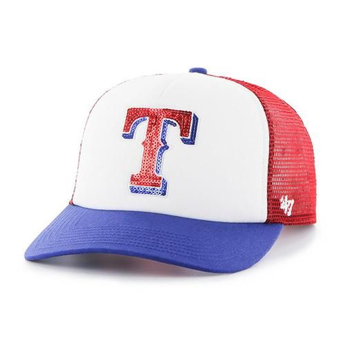 Ladies Texas Rangers Glimmer Snapback Hat