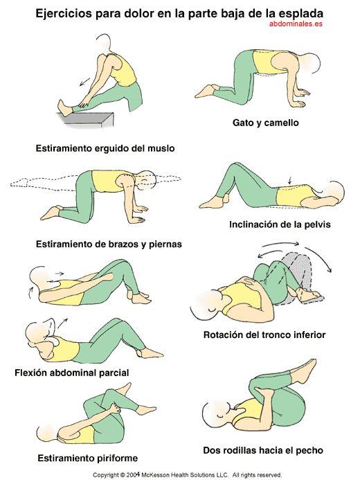 Mejorar el dolor de espalda   Los ejercicios que estiran y fortalecen los músculos del abdomen y la columna vertebral pueden ayudar a ...