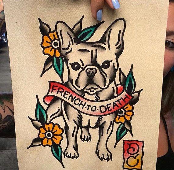 Pardon My French/ French Bulldog Print 8.5x11 by DrewCottomArt