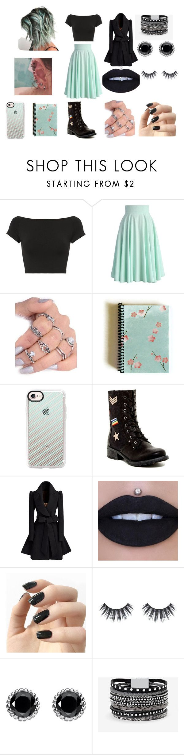 """""""pixie"""" by kikiluv05 on Polyvore featuring Helmut Lang, Chicwish, Casetify, MIA, Incoco, Thomas Sabo and White House Black Market"""