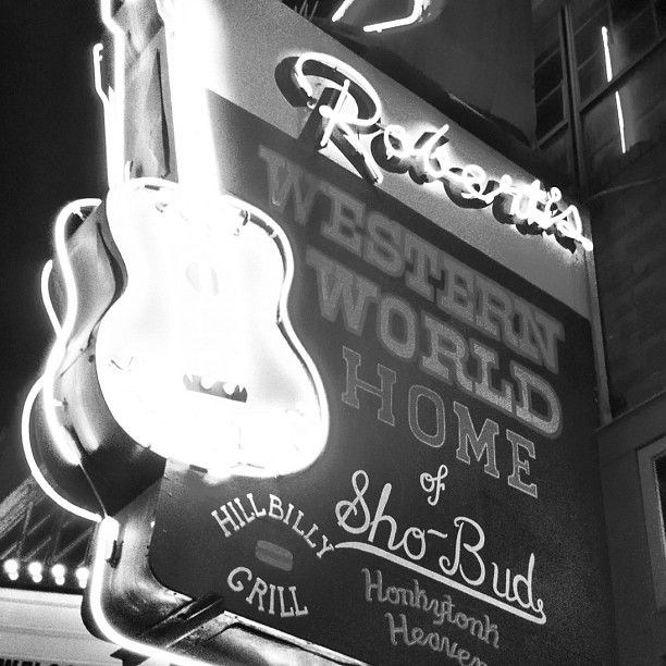 Robert's Western World in Nashville, TN Just down the block from Tootsie's