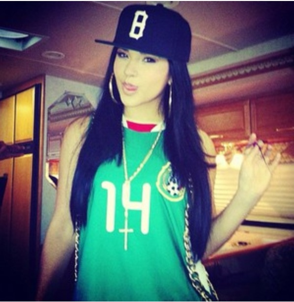 Becky g outfit for oath music video Cher Lloyd ft. Becky g even though people say Becky wrote the song