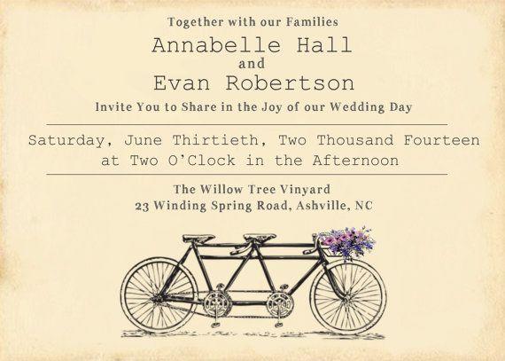 Tandem Bike Wedding Invitations: Best 25+ Wedding Invitations Bicycle Ideas On Pinterest