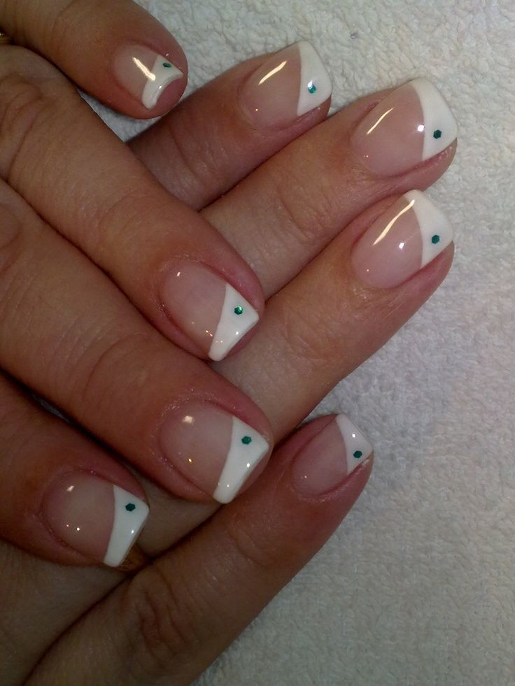 French Tip Nail Art Designs - thinking polka dots instead of the ...
