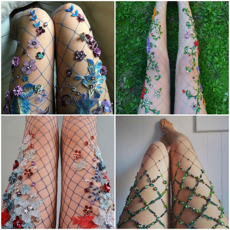 Just Look At These Embroidered Fairy Tale Fishnets