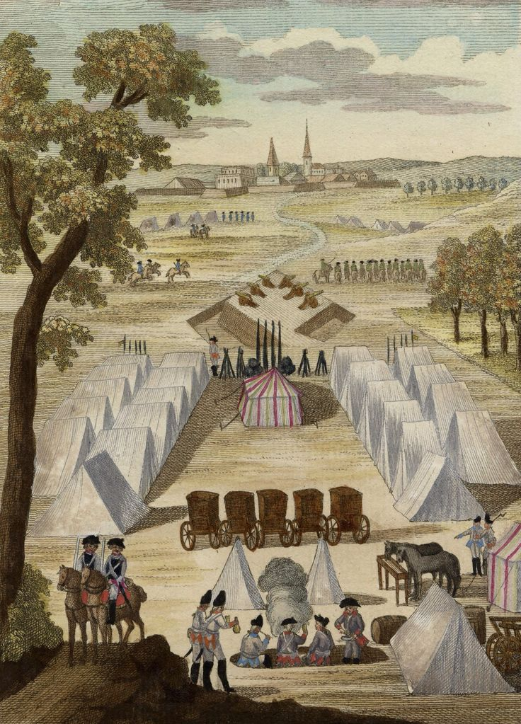 18th century military camp