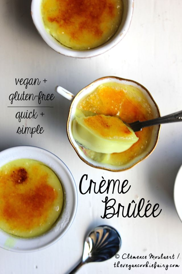 Crème Brûlée: Easy, Quick, #Vegan + #Glutenfree - use almond milk in place of the coconut milk, and try coconut palm sugar in place of the white sugar.