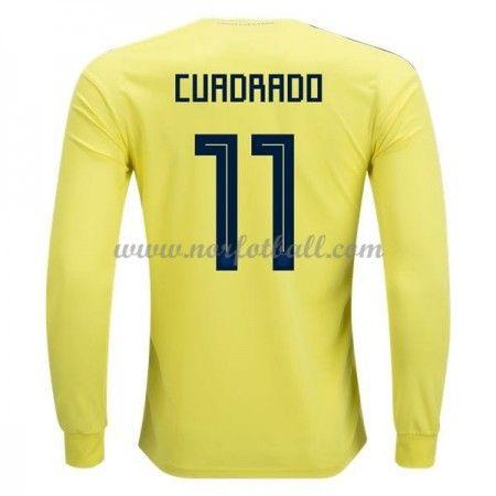 Billige Colombia Drakt VM 2018 Juan Cuadrado 11 Langermet Hjemme Fotballdrakter