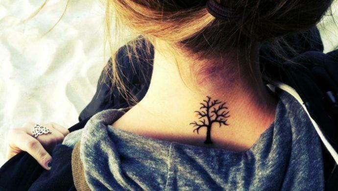 eine versteckte tattoo stelle