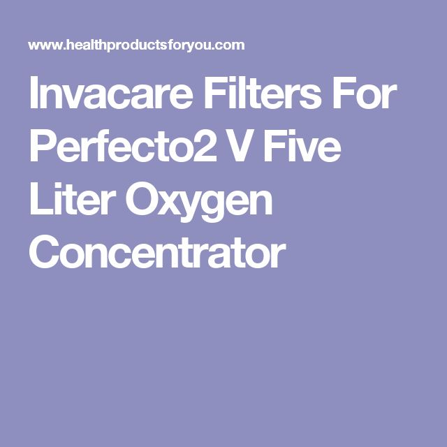 Invacare Filters For Perfecto2 V Five Liter Oxygen Concentrator