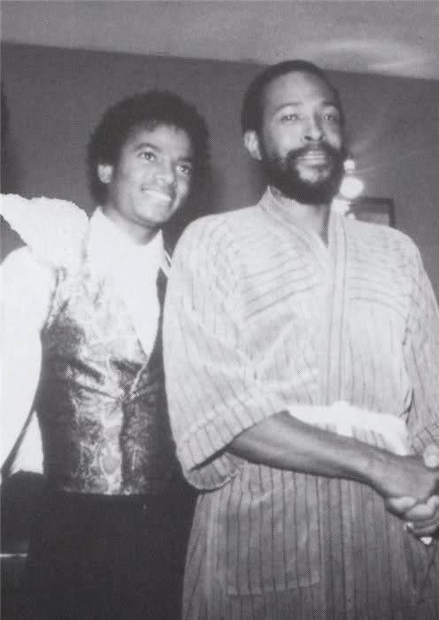 Michael Jackson and Marvin Gaye
