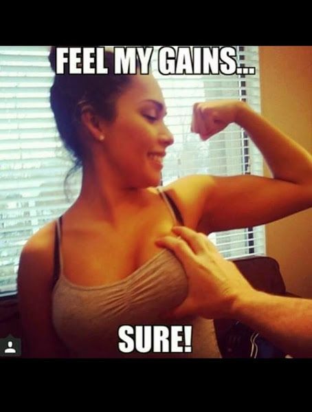 'Feel my gains..' VS vriendje