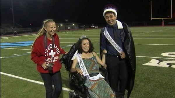 This homecoming queen with special needs gets a fairy tale ending: http://abcn.ws/1vVaHpr