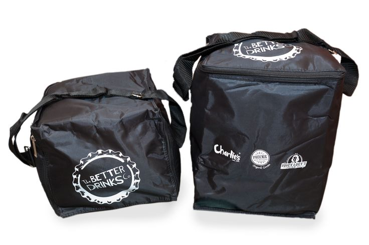 The Collateral Company are excited to have worked with the team at Charlie's as they launched their new company name, The Better Drinks Co. We provided these cooler bags, screen printed with their key Brands, as customer gifts.