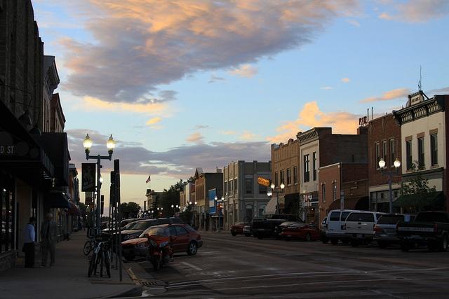 Laramie At Dusk By Wyoming Jackrabbit Via Flickr Cowboy