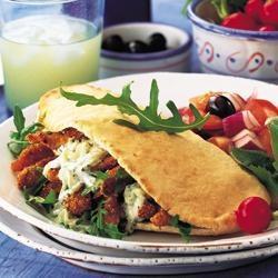 Greek chicken pitta pockets | Recipe