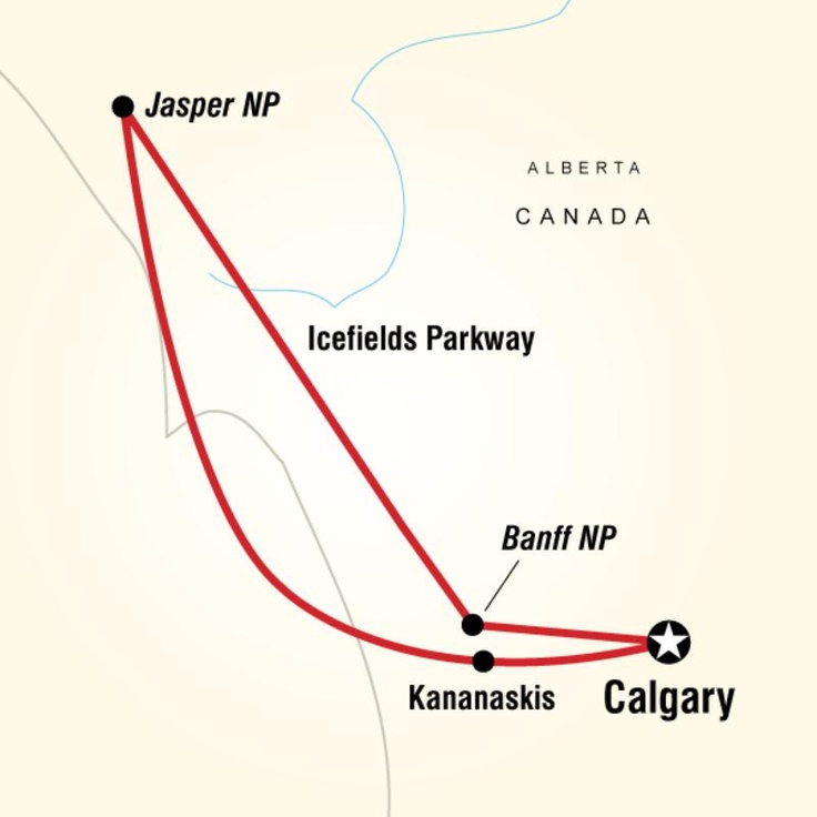 Map of the route for Rockies Roundup! #GILOVEALBERTA