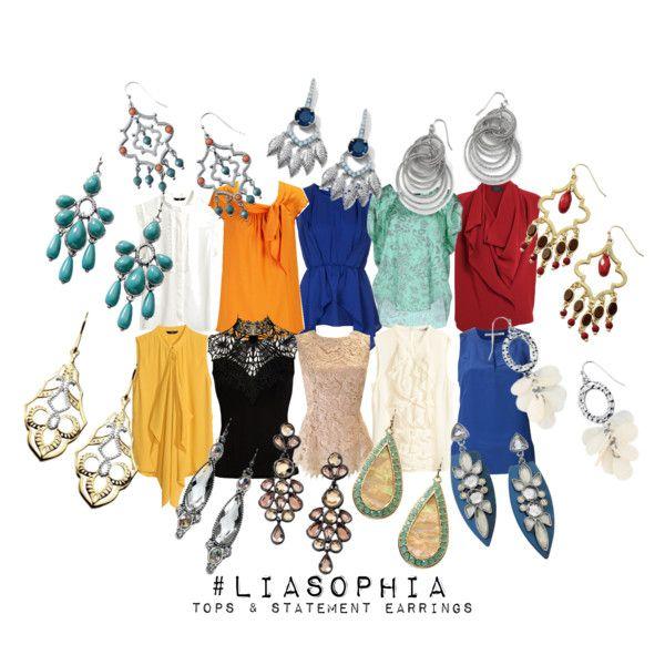 """""""lia sophia '14 - statement earrings & tops"""" #liasophia www.liasophia.com/jlynch4"""