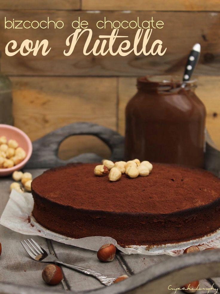 Bizcocho de chocolate con nutella