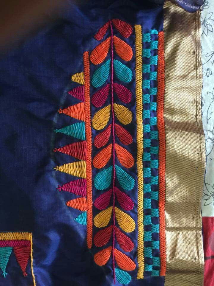 Best hand embroidery images on pinterest blouse