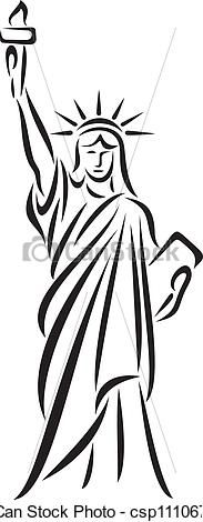 simple line drawings statue of liberty - Google Search