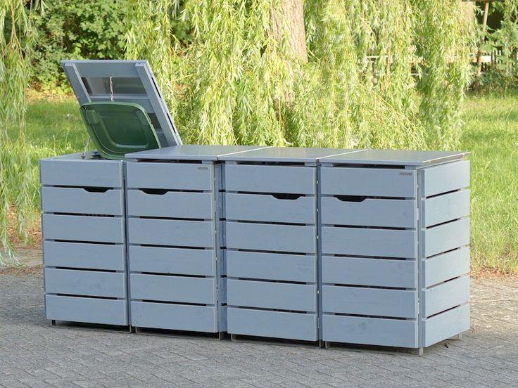 22 besten 4er m lltonnenbox heimisches holz made in germany bilder auf pinterest. Black Bedroom Furniture Sets. Home Design Ideas