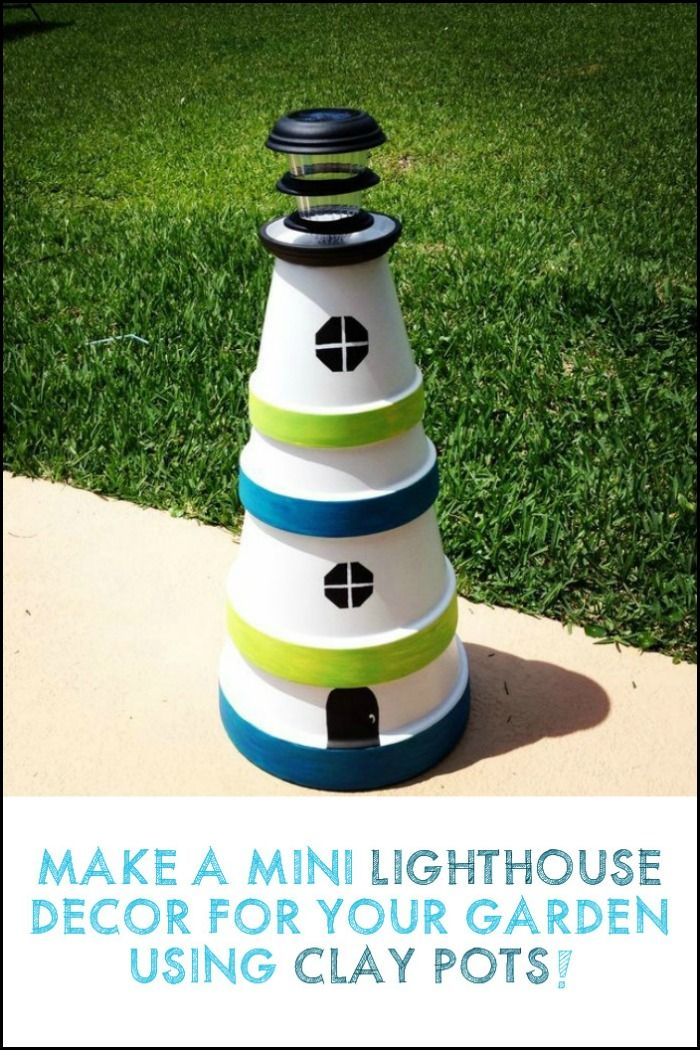 This clay pot lighthouse is a great decorative lighting that would really make a statement in your outdoor area. Could your garden use one of these?