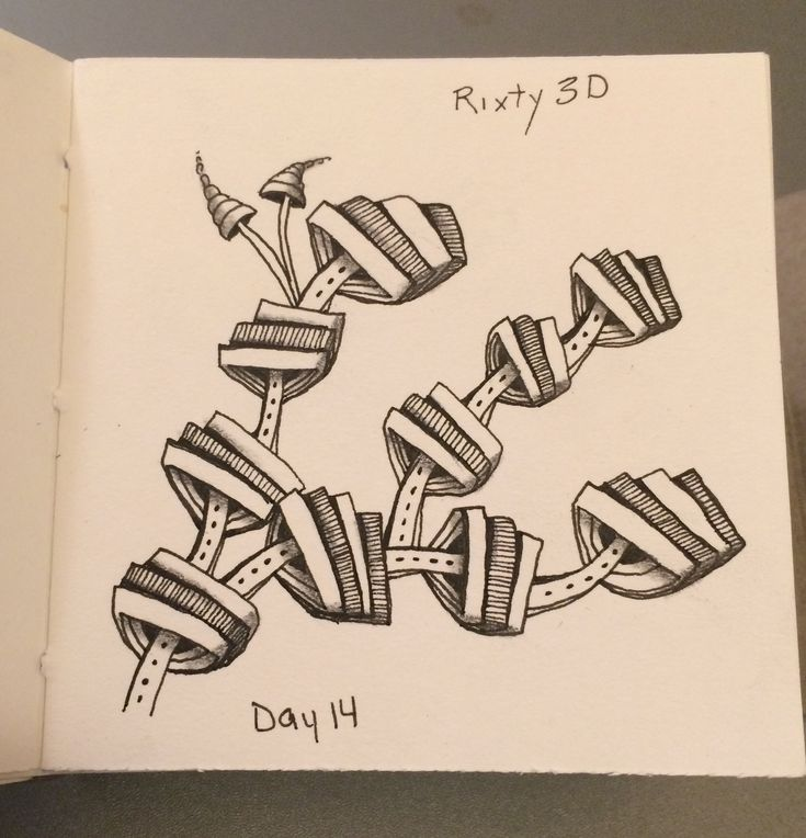 | Zentangle | Zenart | Zendoodle | the100dayproject | I Teach Tangling | Tangling | Rixty | 3D |