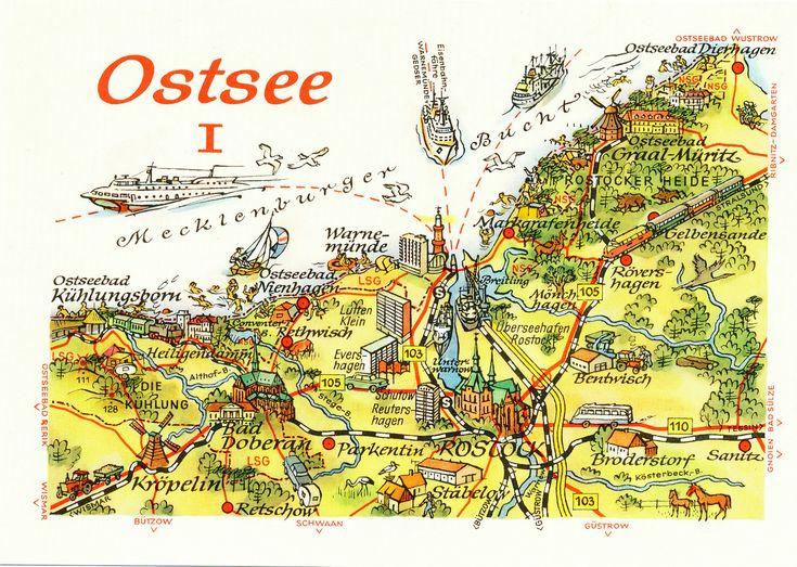 """DDR Museum - Museum: Objektdatenbank - """"Postkarte Ostsee"""" Copyright: DDR Museum, Berlin. Eine kommerzielle Nutzung des Bildes ist nicht erlaubt, but feel free to repin it!"""