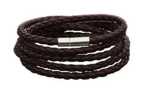 The Adderley Chocolate Men's Leather Bracelet