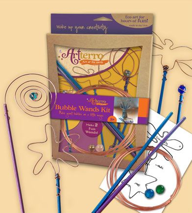 Bend high quality copper wire with marbles into two beautiful, sturdy wands. Blow huge bubbles, decorate a garden or use for magic! Ages 8 and up.